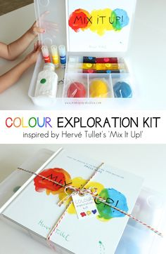 Colour Exploration Kit Inspired by 'Mix It Up! Toddler Art, Toddler Preschool, Toddler Activities, Craft Kits For Kids, Art For Kids, Cool Gifts For Kids, Gifts For Dad, Preschool Colors, Preschool Activities