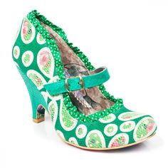 "Irregular Choice Petal Fever Green shoes from ""Me Before You"""