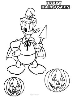 75 Best Disney Halloween Coloring Page Images On Pinterest