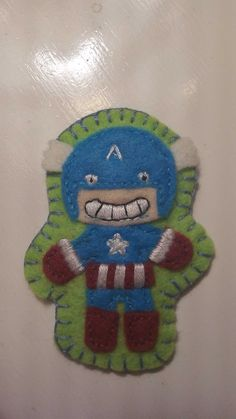 Awesome Captain America felt badge from sewphie