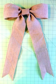How to Tie a Perfect Bow~perfect for wreaths etc. This worked PERFECTLY!!! I will do this every time I craft from now on!
