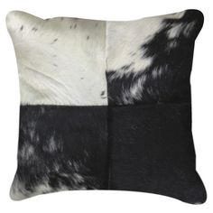 NATURAL - 18 Torino Quatro Large Pillow in Black and White