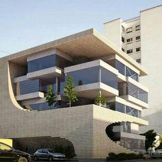 Architectural Design Principles 101: Base, Middle, Top Concept Architecture, Futuristic Architecture, Facade Architecture, Amazing Architecture, Futuristic Houses, Modern Residential Architecture, Facade Design, Exterior Design, House Design