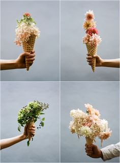 Ice cream cone floral bouquet - Parker Fitzgerald