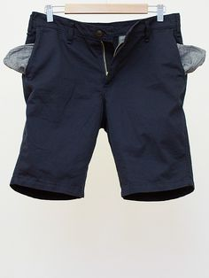 Leftfield Organic Navy Twill Angus Young Shorts (Made in the USA)