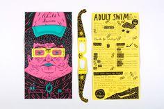 Adult Swim 2012 Comic-Con Brochure by Joseph Veazey, via Behance