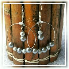 Faux grey pearl and silver earrings Handmade earrings with gorgeous simulated pearls on a ss hook. Discounts given on bundles. Salty Grace  Jewelry Earrings