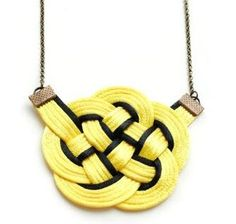 DIY Necklace DIY Jewelry: DIY Nautical Knot Necklace