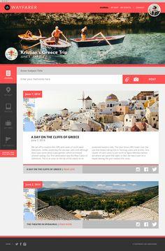 Wayfarer: Travel & Discovery on Behance