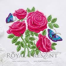 Image result for barudan rose design