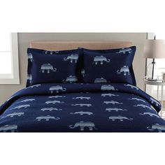 Whimsical Microfiber Quilt Set - Elephant : Target (lightweight- for summer) Elephant Quilt, Elephant Pattern, Ruffle Bedding, Quilt Sizes, Queen Quilt, Bed Spreads, Comforter Sets, Duvet Cover Sets, Bedroom Decor