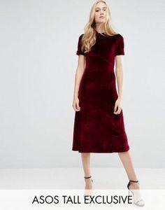 ASOS TALL Tea Dress in Velvet