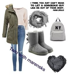 """Twin with Marensks"" by anicute on Polyvore featuring Topshop, UGG Australia, Joshua's, women's clothing, women, female, woman, misses and juniors"