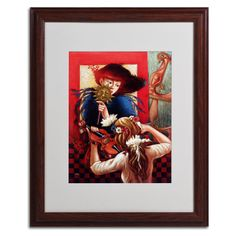 Window Music by Edgar Barrios Matted Framed Painting Print