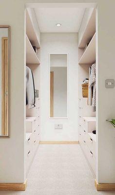 Armario Closet Casal Ideas For 2019 Wardrobe Room, Wardrobe Design Bedroom, Master Bedroom Closet, Small Master Closet, Double Closet, Walk In Closet Design, Closet Designs, Small Walk In Closet Ideas, Small Walk In Wardrobe