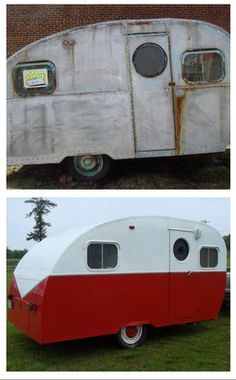 Camper redo- exterior Happy Day Vintage