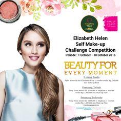 Elizabeth Helen bekerjasama dengan @makeupfirst_id menyelenggarakan Self make-up challenge competition. info ada di http://www.facebook.com/elizabethhelenid/