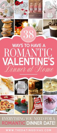 Lots of fun and special ways to have a romantic Valentine's Day dinner at home from The Dating Divas