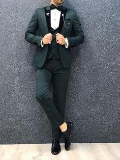 Royal Green Slim Fit Tuxedo – brabion Dark Green Suit Men, Green Tuxedo, Black Suits, Black Tuxedo Suit, Wedding Dresses Men Indian, Wedding Dress Men, Wedding Suits, Wedding Tuxedos, Tuxedo Wedding