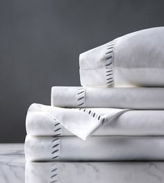 High Thread Count Sheets, Textured Bedding, Celerie Kemble, Grey Sheets, Cal King Size, Luxury Sheets, Eastern Accents, Luxury Bedding Collections, White Embroidery