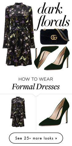 """""""Dark florals"""" by gamboanoeli on Polyvore featuring Warehouse and Gucci"""