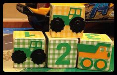 Tractors and Trucks personalized wooden blocks. by ChloesCouture, $6.75