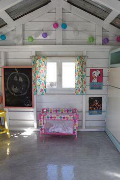 Inside Playhouse, Playhouse Decor, Playhouse Interior, Wood Playhouse, Playhouse Outdoor, Playhouse Furniture, Playhouse Ideas, Plastic Playhouse, Garden Playhouse