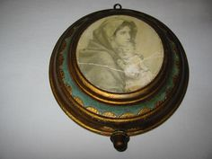 Florentine Music Box Gilt Wood Hand Crafted Swiss Movement Reuge Religious Portrait