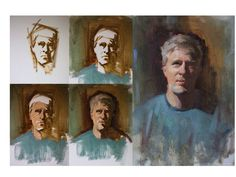 портрет. поэтапно. живопись.