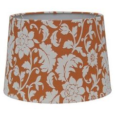 Paint your own lamp shade yellow lamp shades target and bedrooms threshold flocked floral lamp shade aloadofball Gallery