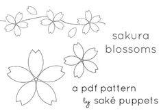 PDF Pattern: 1306 Sakura Blossoms // Modern Sashiko | Supply | Patterns | Kollabora