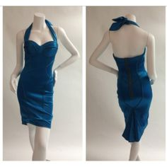 Zac Posen halter dress. Size 4. Brand new with tags. Glamdrobe's price: $595 (retail $1,169. +tax).