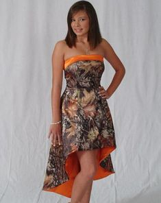 Why Is Camo Prom Dresses? : Orange Camo Prom Dresses