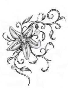 starfish tattoo...so pretty! I'd change it alittle but I love it.