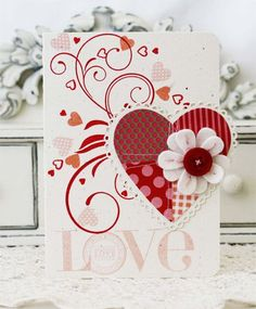 Patchwork Die Cuts - Love Card by Melissa Phillips for Papertrey Ink