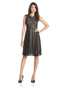 Gabby Skye Women's Sleeveless Cross Bodice Lace Fit and Flare Dress, Black/Nude, 10 Gabby Skye http://www.amazon.com/dp/B00Z0A6A4U/ref=cm_sw_r_pi_dp_I8sxwb1E0ARYK