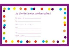 carte d invitation anniversaire fille 10 ans à imprimer