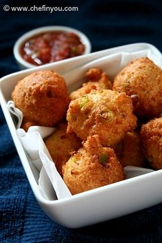 Fried Cornbread Recipe | Cornbread Recipe | Hushpuppies Recipe -- excellent pupu.  Made with white flour, jalapeno, and green onion.  Lots of possible variations, but great as written.