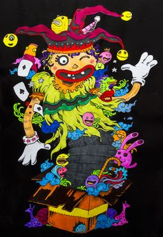 DOODLE INVASION- FUNNY CLOWN Ilustrador: ROSANES, KERBY Painted by: INSTANT PIC