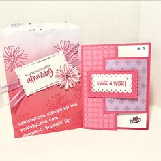 Using Stampin' Up! products, it is so easy to make a gift bag with a Latch fold Birthday card. Watch the video to see how easy these come together. Color Contour, Handmade Stamps, Flower Stamp, Make A Gift, Paper Crafting, Small Gifts, Gift Bags, Stampin Up, Birthday Cards