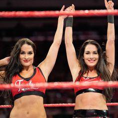 The Bella Twins vs. The Riott Squad: photos All Wwe Divas, Nxt Divas, Total Divas, Nikki Bella Photos, Nikki And Brie Bella, Bella Sisters, Twin Sisters, Brie Bella Wwe, Famous Twins