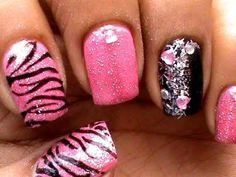 Pink Tiger Nail Art