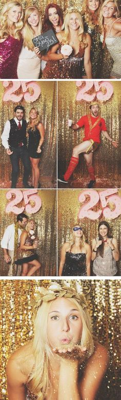 61 DIY Gold Sequin Photo Booth Backdrop