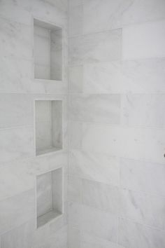 Image result for white tiles for shower niche