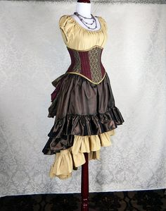 4pc steampunk ensemble (for steampunk pirate costume for anniversary party & Halloween 2013)