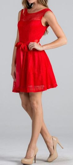 Point Of Perfection Illusion Red Lace Tulle Dress from Ledyz Fashions at www.ledyzfashions.com