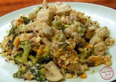 comfortable food - creamy chicken broccoli casserole