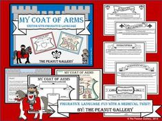 Your students will enjoy this figurative language writing activity with a medieval twist. Each student designs his/her own coat of arms using similes, metaphors, onomatopoeia, alliteration, and personification. ($)