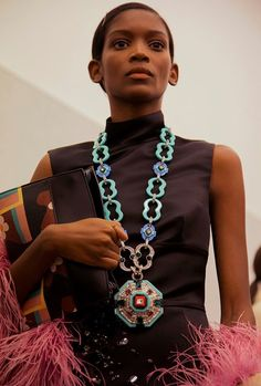fde4074c124bb Backstage at Prada SS17 MFW Dazed Boho Necklace, Jewelry Necklaces, Gold  Diggers, Backstage