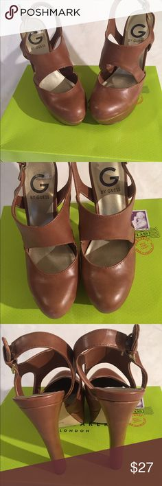 "G by Guess shoes A gorgeous pair of G by Guess slingback pumps, rust, adjustable strap, 1 1/2"" platform with a 5 1/4"" heel. Perfect for career or dress wear. These shoes were worn a few times and are in excellent pre-owned condition. Nice addition to your wardrobe. G by Guess Shoes Heels"